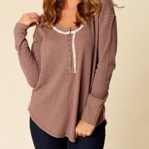 Altar'd State Thermal Long Sleeve Shirt Top XS
